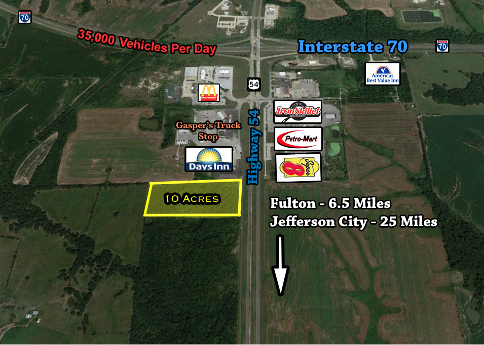 Highway 54 & County Rd. 211 (Kingdom City)  Kingdom City, MO  65262